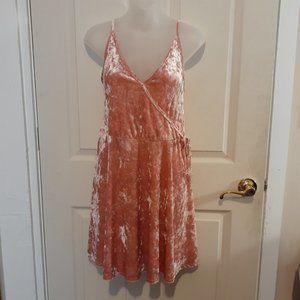 RUE PLUS (1X) Dress Pink Crushed Velvet Soft